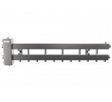 Гидрострелка с коллектором на 6 контуров до 150 кВт (балансировочный коллектор из нержавеющей стали BMSS-150-6D)